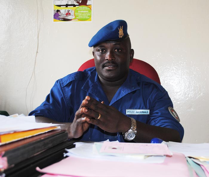 "Arthémon Nzitabakuze, the Road Traffic Police Commander, ""We are arresting buses carrying cans of petrol because very often their tanks have been damaged, this is very dangerous for passengers as they can easily be burned..."