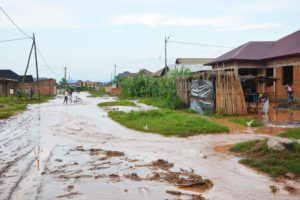 An impracticable street because of flood.©Iwacu