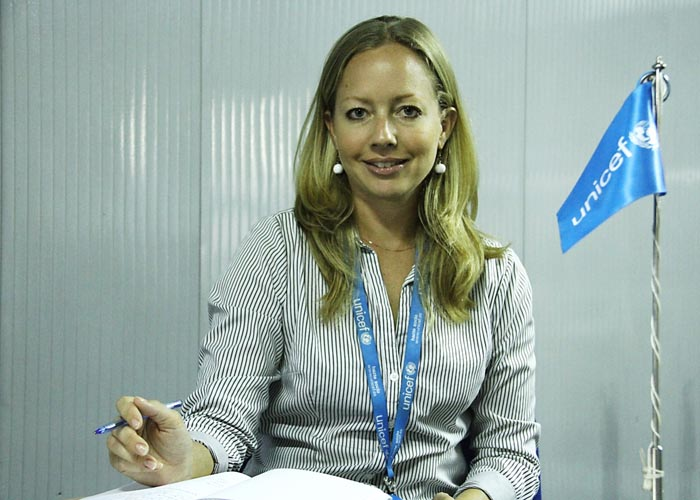 "Eliane Luthi: ""All young people can become U-reporters"" ©Iwacu"