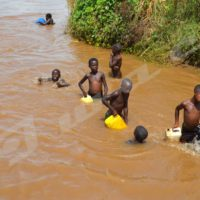 Rusizi River: People of Gihanga use this dirty water; some even drink it.