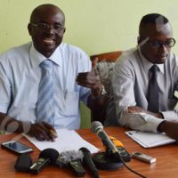 Hamza Venant Burikukiye and Jean Marie Nduwimana, respective legal representatives of CAPES+ and PISC-Burundi.