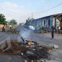 Barricades erected by protesters against President Pierre Nkurunziza 2015 reelection in Jabe, Bujumbura
