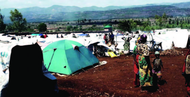 Burundian Asylum seekers' camp in Kamanyola