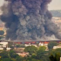 Le marché central en fumée ©dr