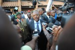 Le président a été sur les lieux  ©Iwacu