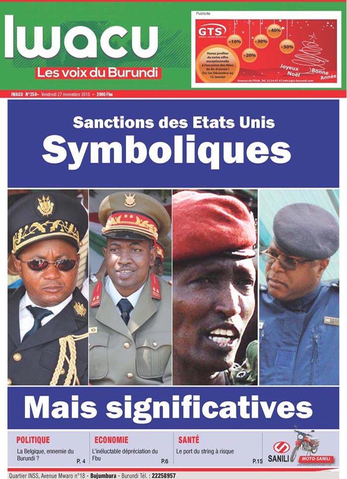 IWACU Hebdomadaire n°350