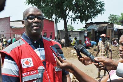 Anselme Katiyunguruza, secrétaire général de la Croix-Rouge du Burundi, lance un appel à tout bienfaiteur pour venir en aide aux sinistrés ©Iwacu