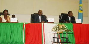 Lundi 3 février 2014 – Ouverture de la première session parlementaire de 2014 marquée par l'absence des députés de l'Uprona. Ici, le Bureau de l'Assemblée Nationale ©P.N/Iwacu