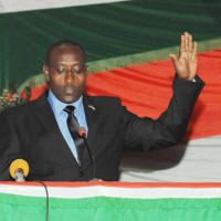 Le ministre Giteruzi lors de la prestation de serment à Kigobe ©Iwacu