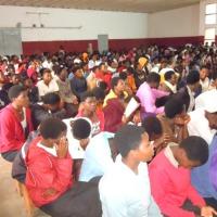 Les élèves du Lycée Sainte Thérèse