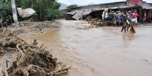 Presque tous les quartiers du nord de la capitale étaient inondés. Ici a Kamenge ©Iwacu
