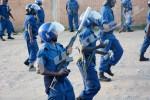 Puis l'assaut est lancé. Gaz lacrymogène contre des jets de pierres : les jeunes du MSD sont violemment dispersés ©O.N/Iwacu