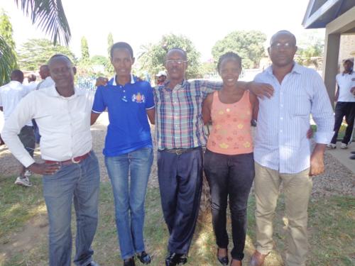 Les membres du comité exécutif de l'AJSB : « Après les deux mandats, je ferai mes valises », a déclaré, Désiré Hatungimana (à droite sur la photo) ©Iwacu