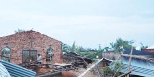 Une maison complètement dévastée lors de ces pluies torrentielles ©Iwacu