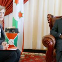 L'ambassadeur Power avec le président Nkurunziza ©Iwacu