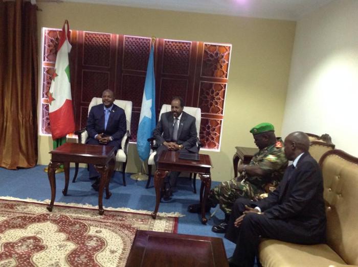 Le president Nkurunziza en Somalie