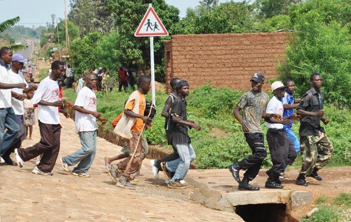 Les Imbonerakure en train de faire du sport ©Iwacu