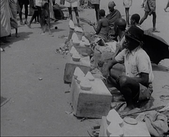 Le petit commerce au marché  d'Usumbura