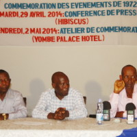 De gauche à droite : Gordien Makoto, M. Barandereka et Cyriaque Niyungeko répondent aux questions des participants ©Iwacu