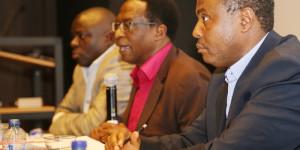 Lénoard Nyangoma et Alexis Sinduhije, lors de la conférence de Bruxelles ©Iwacu