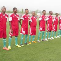 Les Intamba Juniors avant le match aller (à Bujumbura) contre les Lions indomptable ©Iwacu