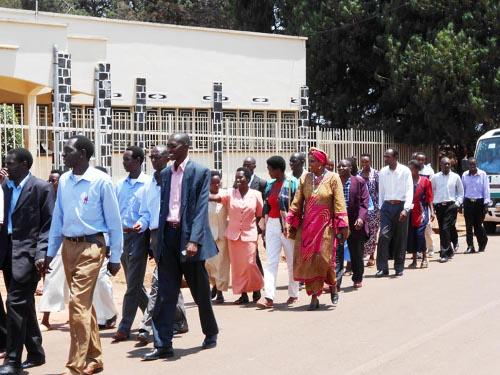 Les professeurs de Ruyigi lors de la journée mondiale de l'enseignant ©Iwacu