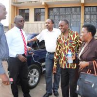 Les représentants de la société civile (Forsc, Focode, Olucome, Cosome) ©Iwacu