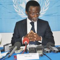 Parfait Onanga-Anyanga, représentant spécial au Burundi du secrétaire général de l'ONU : « En participant à cette réunion, la classe politique burundaise fera une fois de plus preuve de maturité politique » ©Iwacu