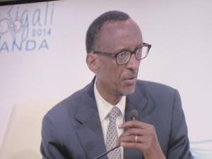 Paul Kagame lors de l'ouverture des assemblées annuelles de la BAD 2014 à Kigali ©Iwacu