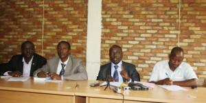 Les représentants de ces organisations lors de la conférence de presse ©Iwacu