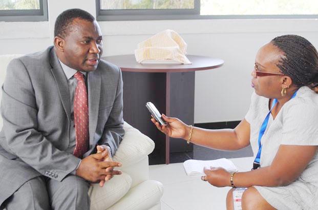 Domitien Ndihokubwayo, Commissaire général de l'OBR lors de l'interview ©Iwacu