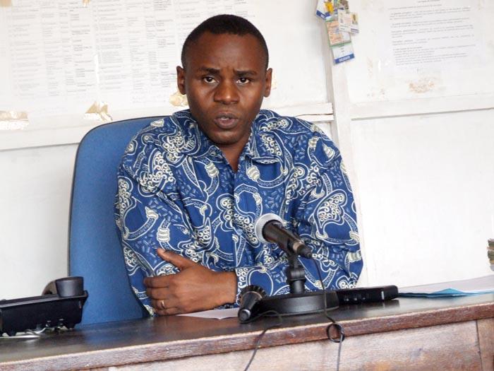 Gabriel Rufyiri, président de l'Olucome lors de la conférence de presse ©Iwacu