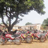 Les motos en situation irrégulière au commissariat de police ©Iwacu