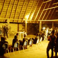 Lors de la soirée de restitution de la formation au jeu d'acteur, au Vuvuzela, ce 23 juillet ©Iwacu