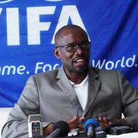 Réverien Ndikuriyo, président de la FFB, lors de la conférence de presse du 8 juillet au siège de la fédération ©Iwacu