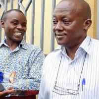 Gabriel Rufyiri et son avocat Prosper Niyoyankana ©Iwacu