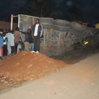 Accident d'un camion sur la route de Gatumba ©Iwacu