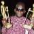 Big Furious avec ses trophées, dont celui décerné pour sa chanson « Yahaya » plébiscitée par le public ©Iwacu