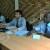 Jeudi, 14 août 2014 -Damien CHERVAZ (Au milieu), avocat au barreau de Genève, venu en appui aux avocats burundais de Pierre-Claver Mbonimpa  ©JB.S/Iwacu
