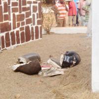 Le buste de Rwagasore détruit ©Iwacu