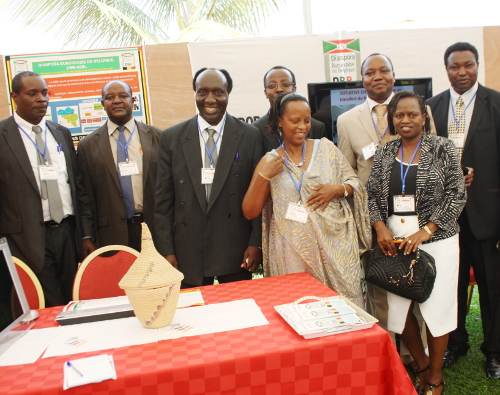 Le stand de la DBB, à l'occasion des cérémonies d'ouverture de la semaine dédiée à la diaspora ©Iwacu