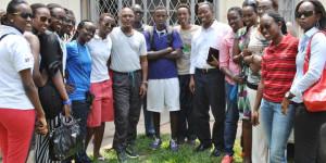 Vendredi, 20 août 2014 - Les joueuses de Berco Stars reçues par le ministre des Sports. « Nous avons sué durant toute l'année pour décrocher notre ticket de la zone 5. Et voilà que notre rêve vient d'être brisé par ceux qui ne souhaitent pas la promotion de la femme », s'indigne Florence Karume Dada, meilleure joueuse de l'année ©Iwacu