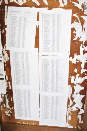 Une partie du personnel ayant déjà un numéro matricule à la Fonction publique est affichée au Minagri ©Iwacu