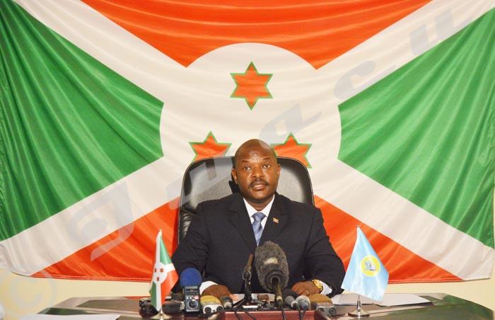Pierre Nkurunziza, président de la République du Burundi