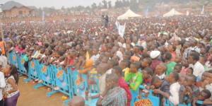 Une grande foule avait repondu au rendez-vous musical dans le stade de Gitega ©Iwacu