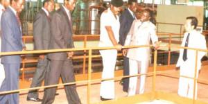 Inauguration de la Sosumo par la Major Pierre Buyoya, une initiative du régime Micombero réalisée par la deuxième République du Colonel Jean-Baptiste Bagaza ©Iwacu