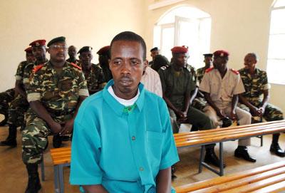Désiré Ndikumagenge devant le tribunal militaire ©Iwacu