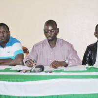 De gauche à droite, Patrick Nkurunziza du Frodebu, Patrice Gahungu de l'UPD-Zigamibanga et un représentant du Cndd ©Iwacu