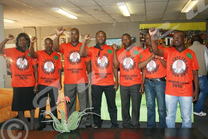 Mardi, 02 septembre 2014 - Les militants du parti FNL (non reconnu par le ministère de l'Intérieur) vivant en Afrique du Sud, Mozambique et Zambie viennent de désigner Agathon Rwasa comme leur candidat aux présidentielles de 2015 ©Droits réservés