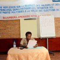 Justine Nkurunziza : « Les lois doivent exprimer la volonté du peuple et non les caprices du souverain. » ©Iwacu